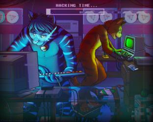 RETROWAVE: Hackercats