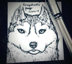 Inktober 2019 - Day 6 'Husky'