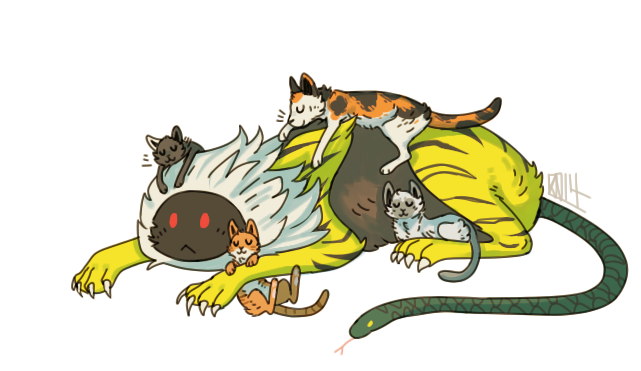 Nue and cats