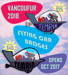 VF2018 - Flying Car Badges - Opens Oct 2017!