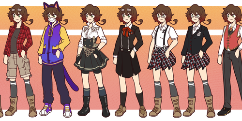 look at all these outfits