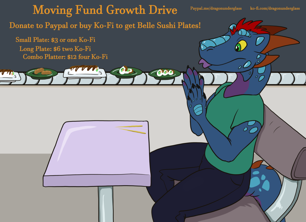 Most recent image: Moving Fund Sushi Feast for BelleDraco