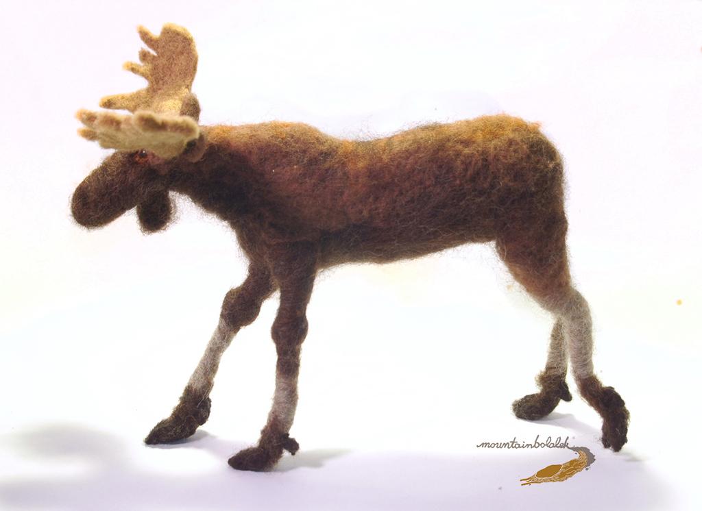 Needlefelted Moose