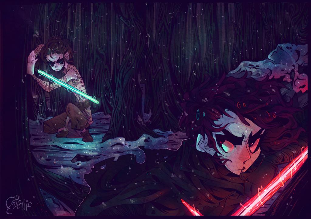 snowy glow stick battle
