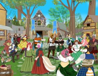 Celtic Knights: Furrydelphia 2019 Convention Art