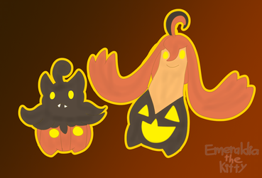 Pumpkaboo and Gourgeist