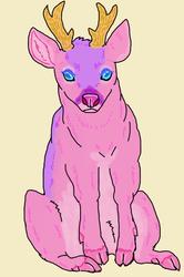 Pink roe deer
