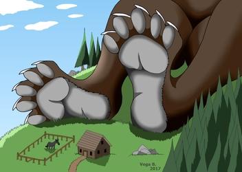 Giant bear paws