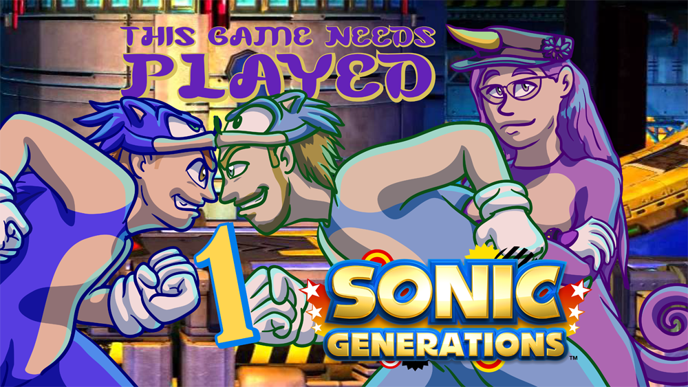 Sonic Generations Title Card Art