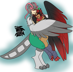 Harpy Lovers +Flatcolored Commission+