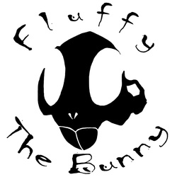 Fluffy the Bunny decal