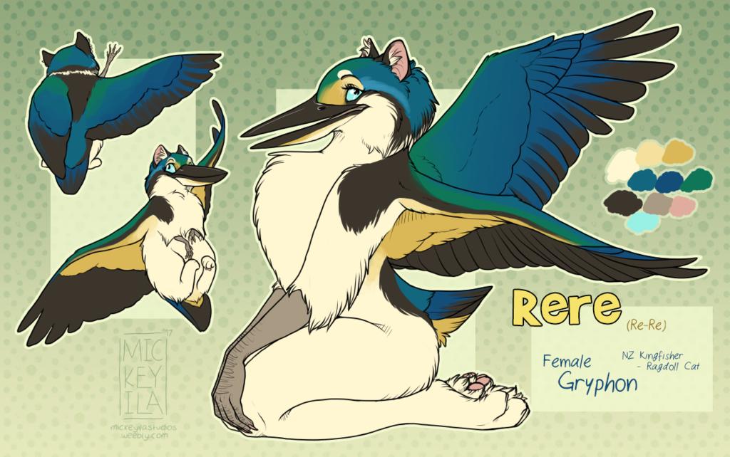 OOAK Adoptable - Kingfisher/Ragdoll Gryphon - FOR SALE