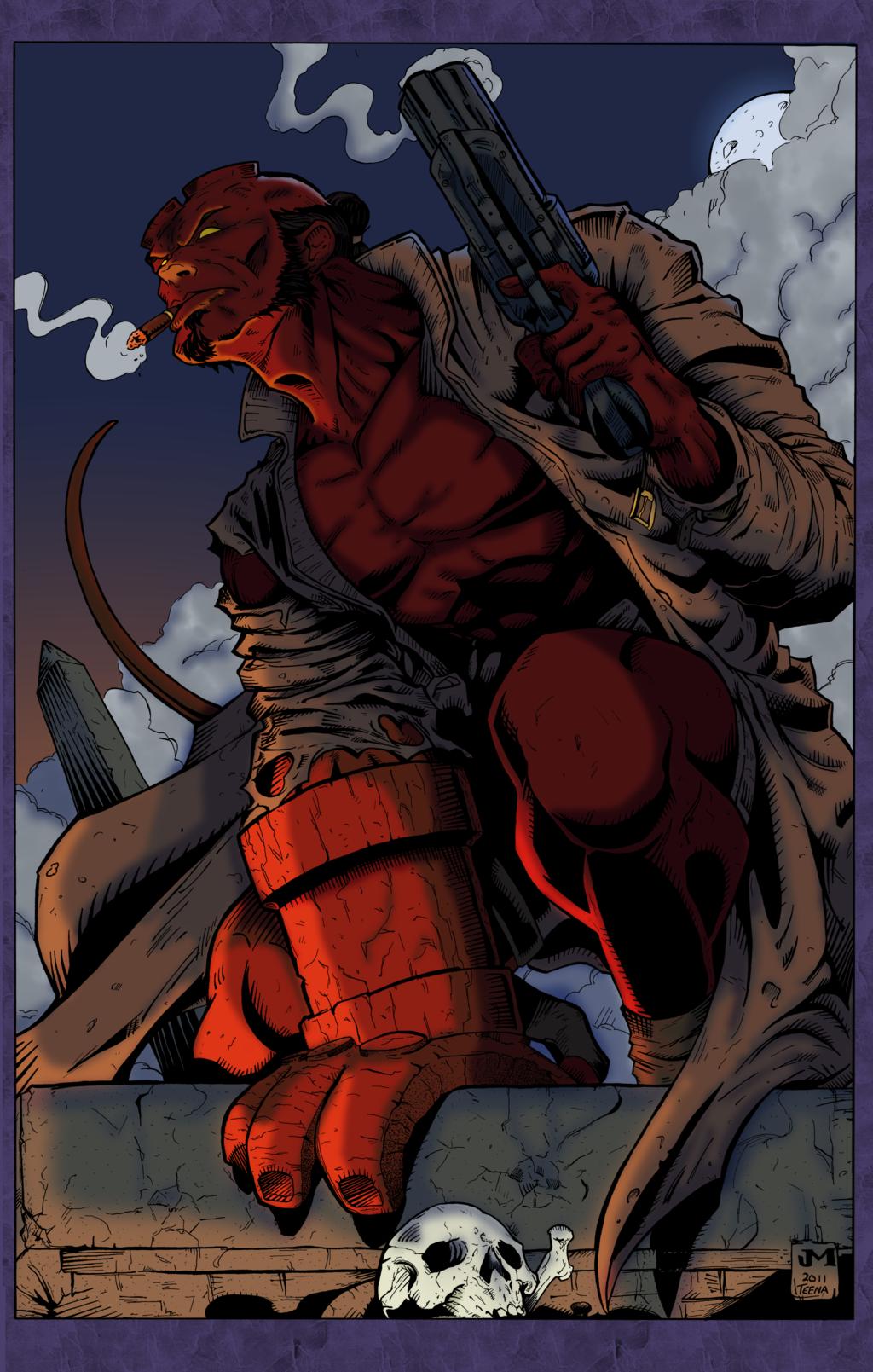 Hellboy Brooding
