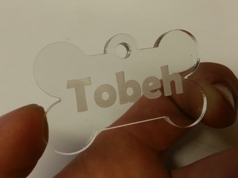 acrylic bone tag for Tobeh