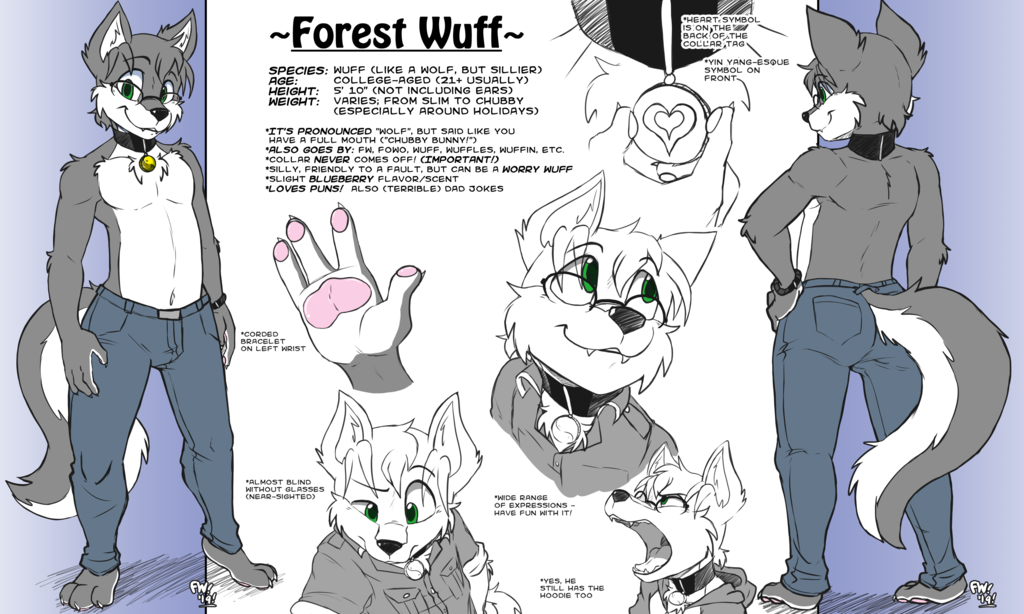 Forest Reference Sheet (2019) - Shirtless Version