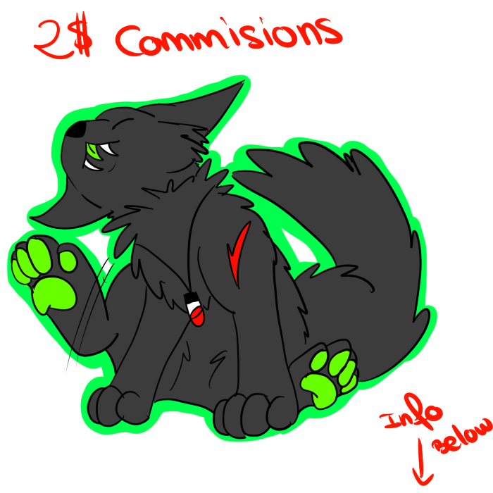Most recent image: URGENT COMMISIONS ONLY 2$