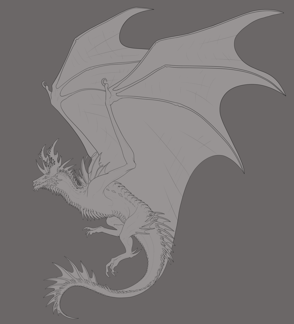 Most recent image: Spaceish Wyvern -lines-