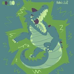 Limited palette alligator