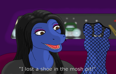 Lost her shoe at the show (Redrawn)