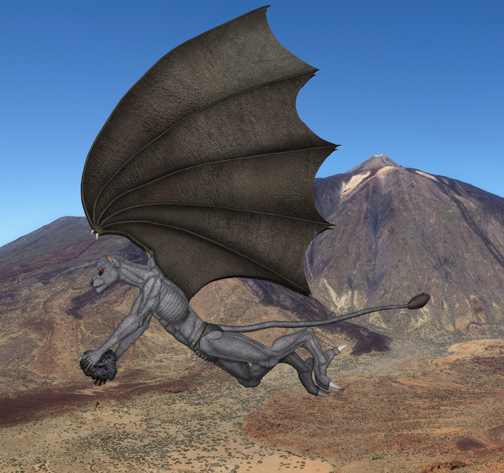 Most recent image: (customized creature) Gryzf flying very high.