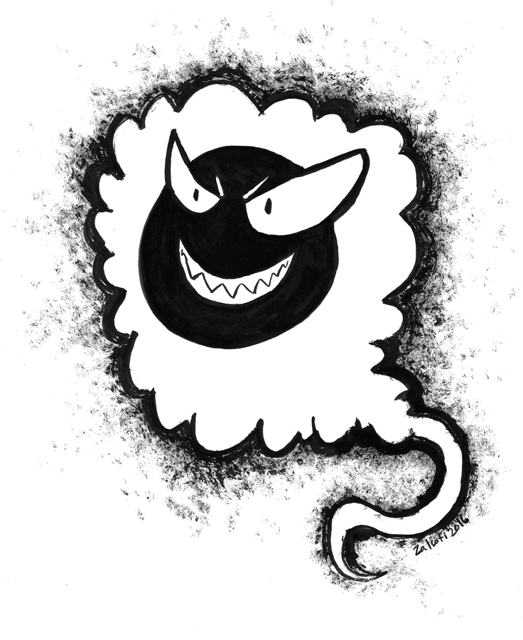 Featured image: Inktober 2016 Day 2 Gastly