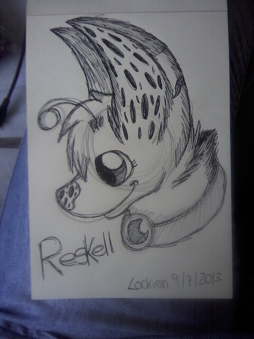 Reskell headshot lineart sketch