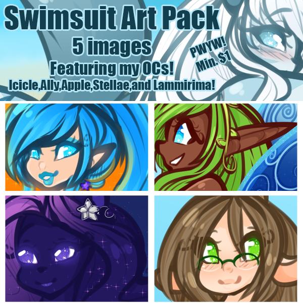 Swimsuit Art pack (my ocs!) (teaser banner)