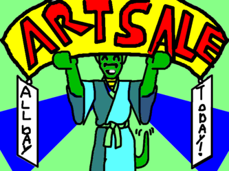 art sale today only!