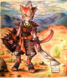 Desert Cat Warrior