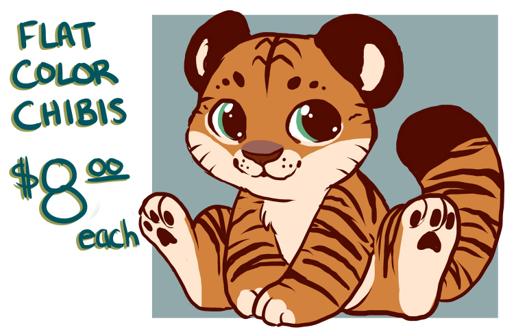 Most recent image: [Ad] Flat Color Chibis $8