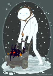 Snow Golem and Fire Pup