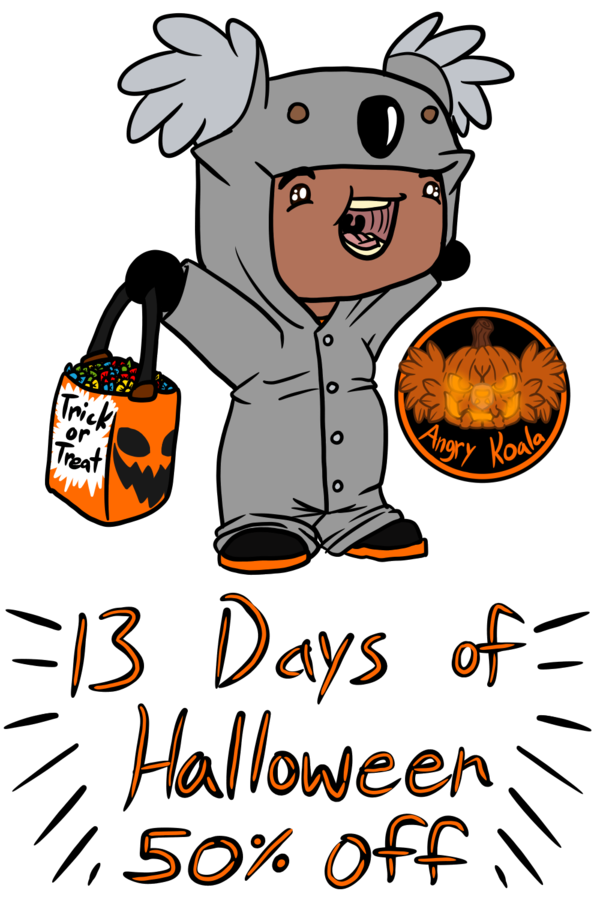 13 Days of Halloween - 50% off sale (19th-31st)