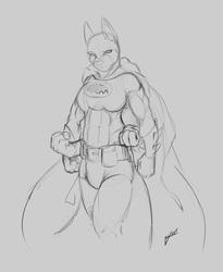 Theme Stream Sketch: Bat-Red