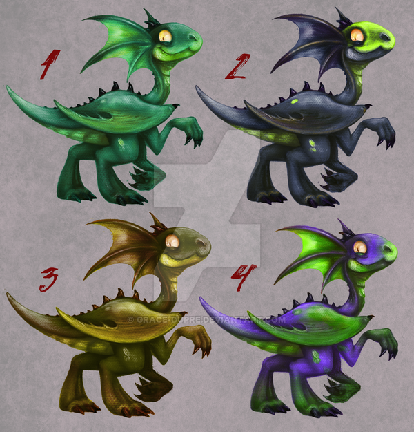 Most recent image: [OPEN 4/4] AUCTION: Baby Dragons