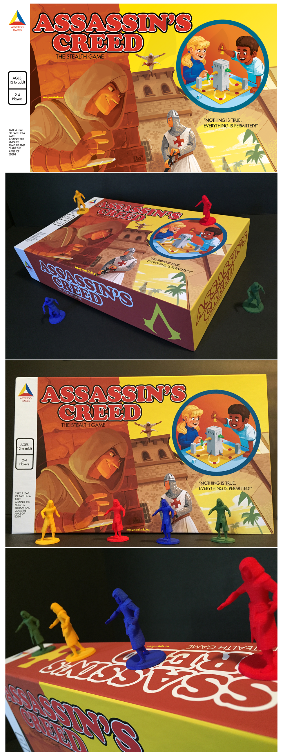 Assassin's Creed mock boardgame