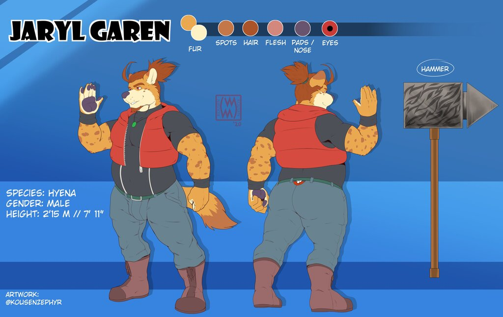 Jaryl Garen reference 2020 (clothed) - by KousenZephyr