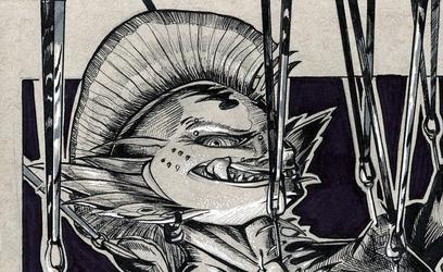 Inktober #10: Fish Gig