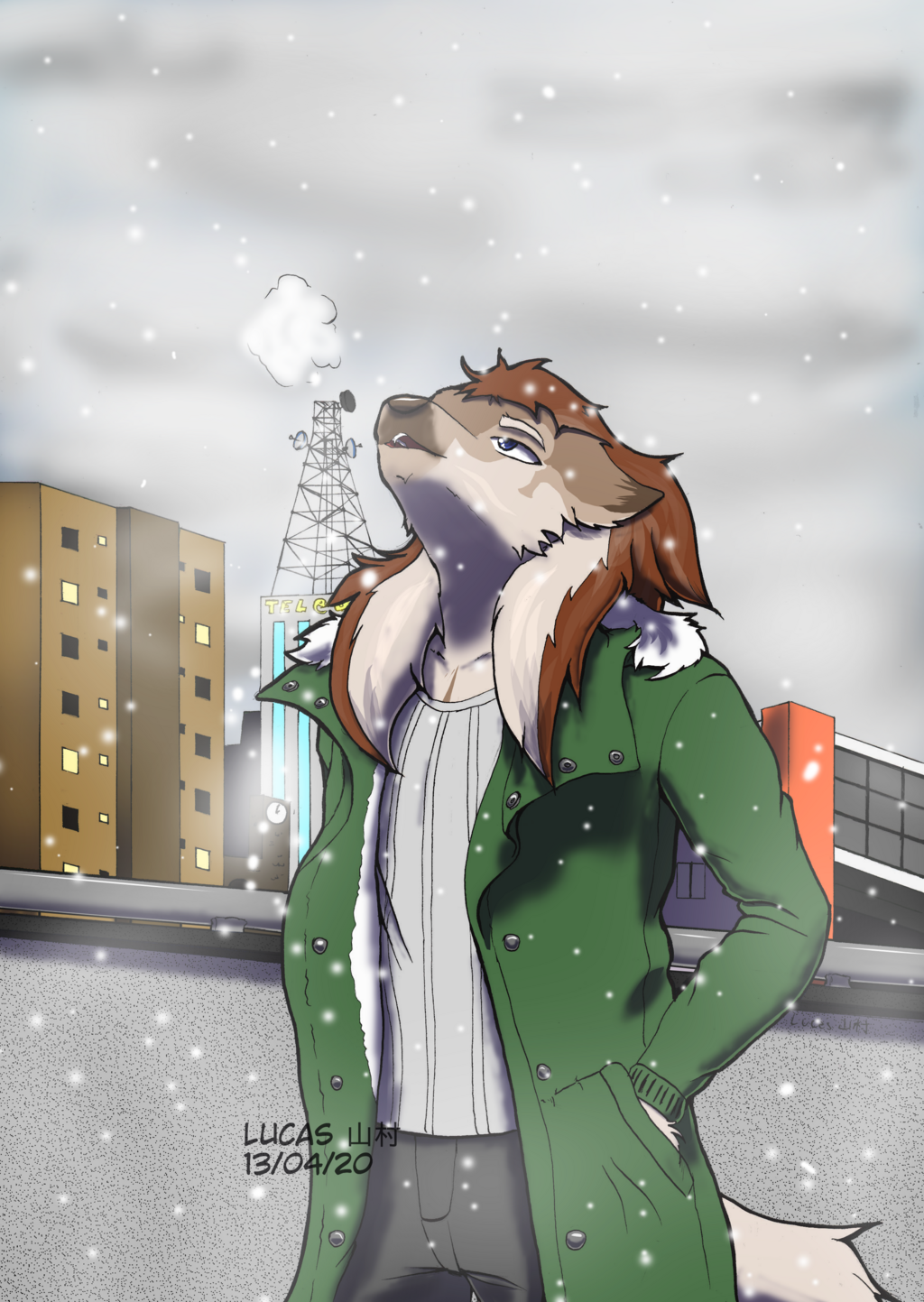 Finished YCH - White dots from the sky