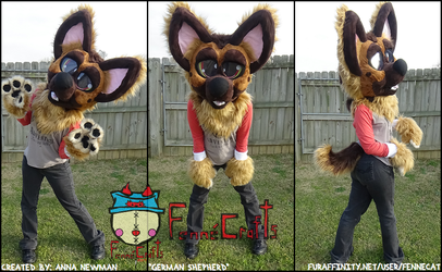 FennéCrafts - German Shepherd Partial Suit (2017) Sold!