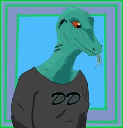 A pixel art for DinosaurDammit