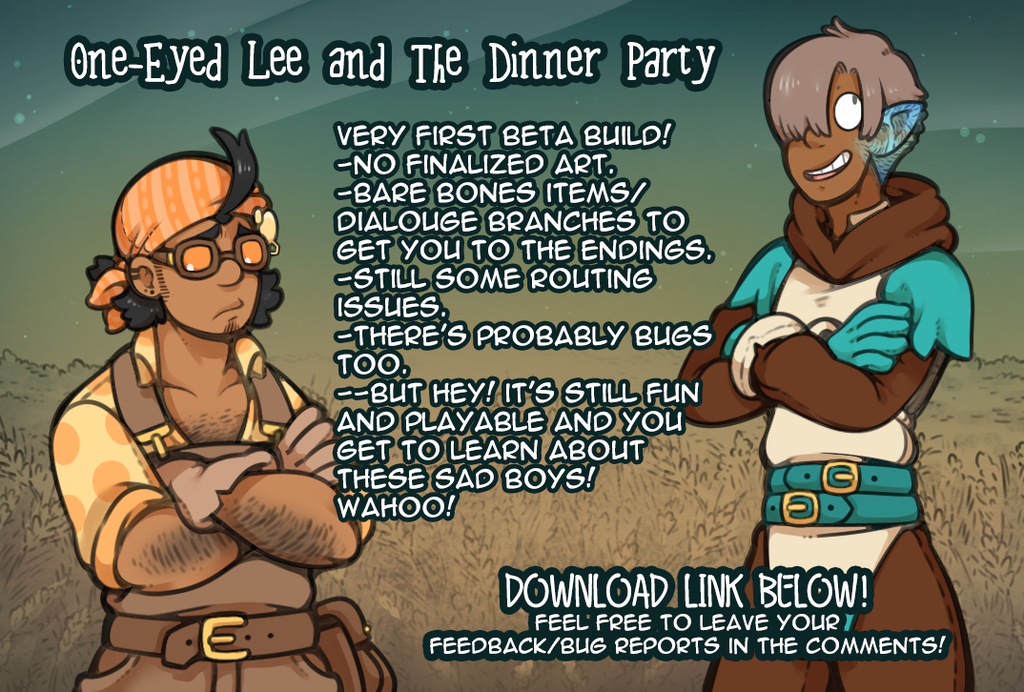 One-Eyed Lee and The Dinner Party : BETA BUILD 1.0