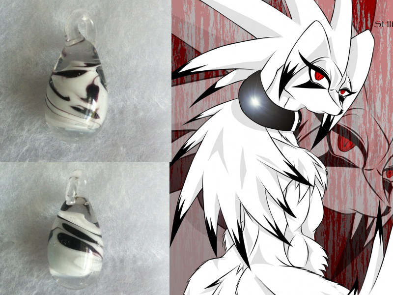 tamurross's Handmade glass egg pendant