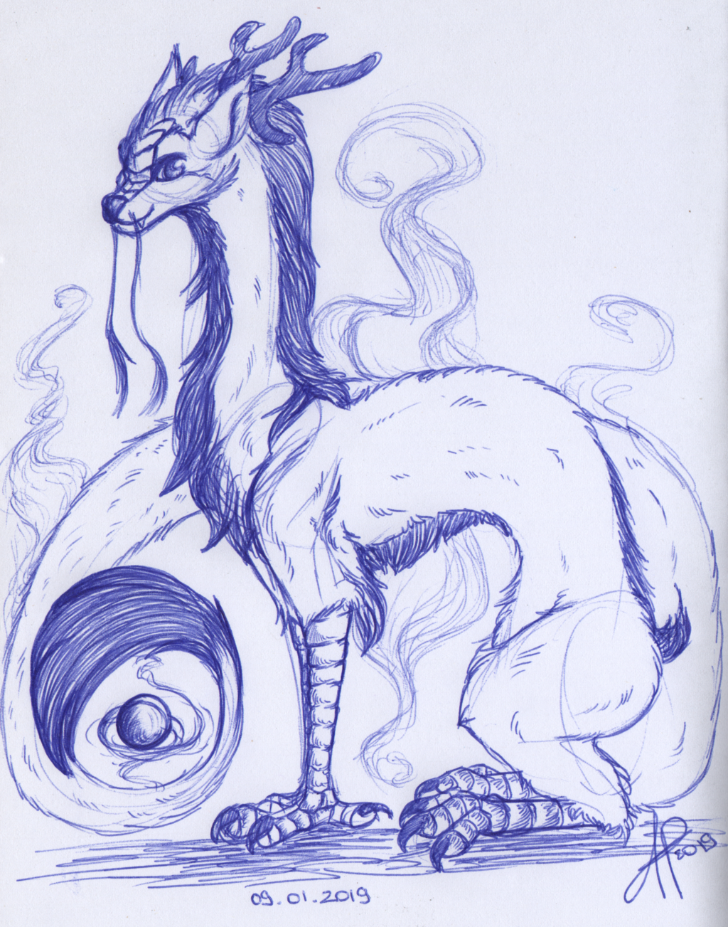 Most recent image: Chinese dragon doodle