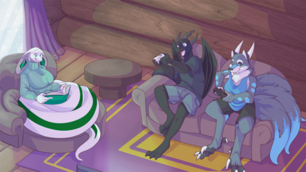 [Com] Winter Cabin Relaxation