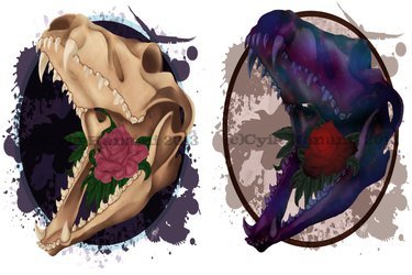 Painted Skull T-Shirt designs