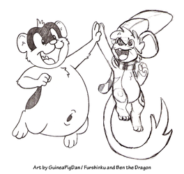 Rodent high-five! -collab-
