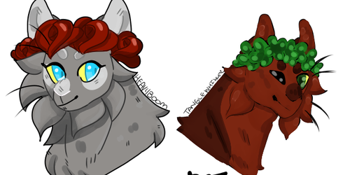 Warrior OC flowercrown headshot commissions