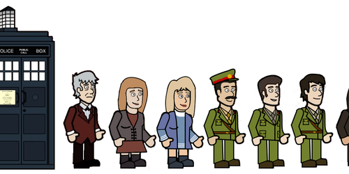 The 3rd Doctor and his friends