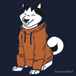Happy Hoodie Husky: AVAILABLE ON REDBUBBLE