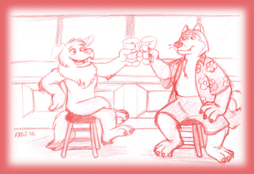 Two Pals and Beer